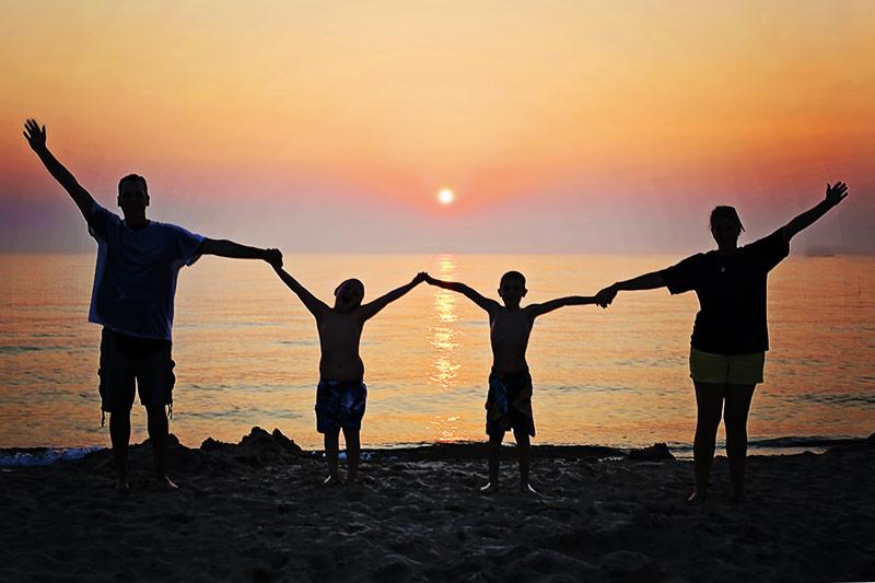 Familienzeit am Meer
